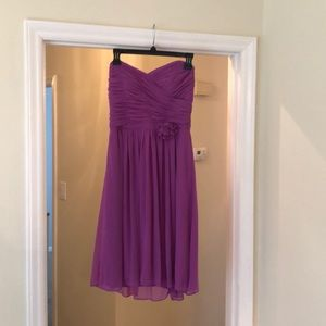 Knee length strapless dress worn once in wedding